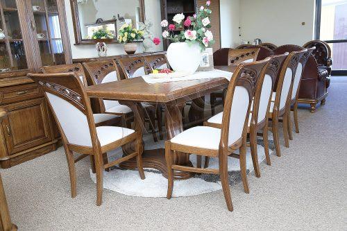 przykład stołu dębowego mozart do jadalni