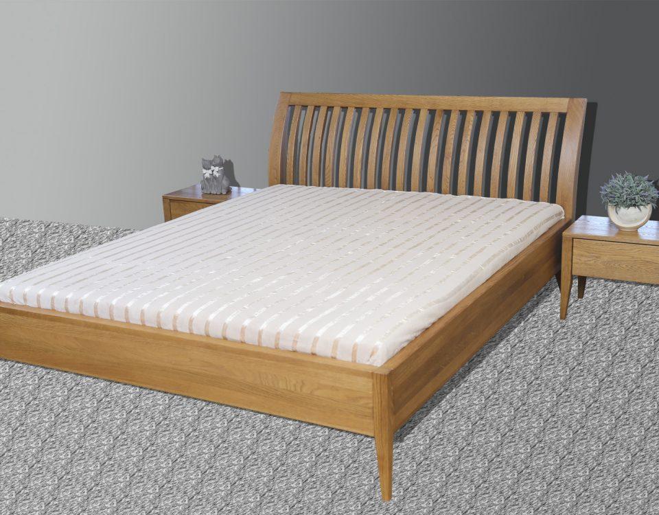 Nowoczesne łóżka dębowe do sypialni